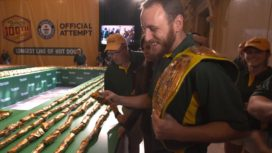 HOT DOG!  NATHAN'S SETS NEW GUINNESS WORLD RECORD.