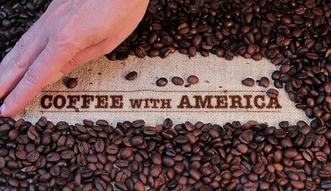 coffee with america beans small